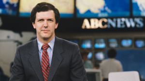 "PHOTO Charles Gibson is shown on the ""ABC News"" set in this April 24, 1984 file photo, in Washington, D.C."