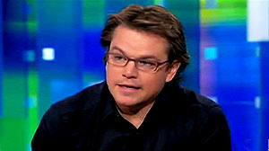PHOTO: Matt Damon, told CNNs Piers Morgan on March 3, 2011 how disappointed he is in President Obamas performance.