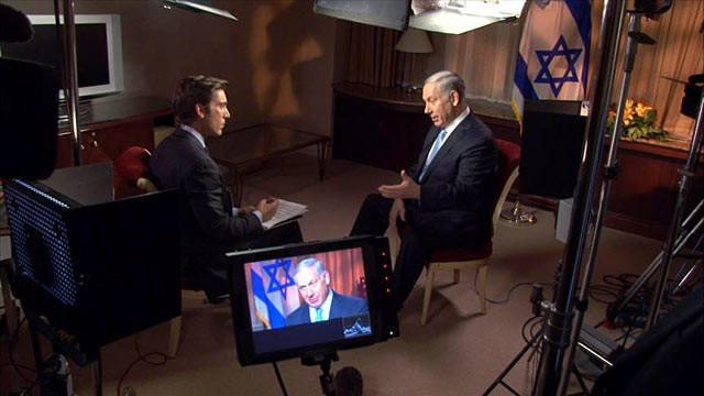 PHOTO: ABC News' David Muir interviews Israeli Prime Minister Benjamin Netanyahu after he appears before the U.N. General Assembly.