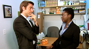 PHOTO David Muir speaks with Saudia Davis in this screen grab.