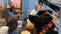 Photo: American Heart: the Music Kitchen Performs for the Homeless: New York Musicians Put on Free Concerts in Homeless Shelters