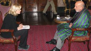 Diane Sawyer sits down with Hamid Karzai