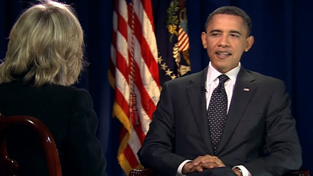 Photo: Pres. Obama speaks with Diane Sawyer
