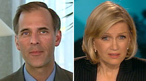 Photo: Diane Sawyer interviews Mark Zandi on World News