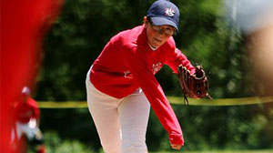 Photo: In a league of her own: 13-year-old pitcher uses fastball and knuckleball to dominate boys