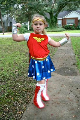 Little Girls Unleash Their Inner Wonder Woman