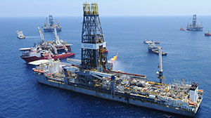 Photo: Armada of 50 ships surrounds the site of the collapsed Deepwater Horizon rig