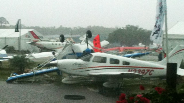 PHOTO Bad weather is seen at an airport in Florida.