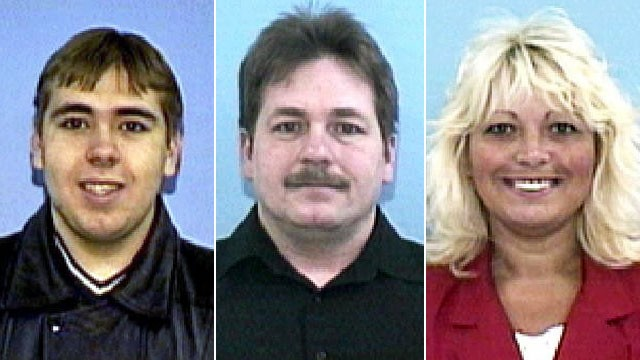 Photo: Mug shots of William Inman II and his parents, William and Sandra Inman
