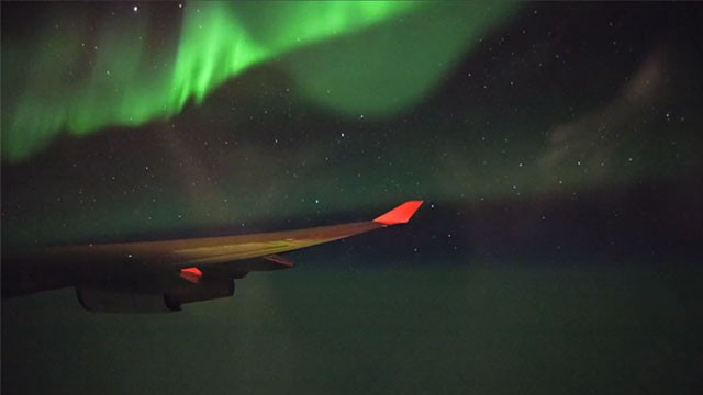 Photo: Northern Lights captured on flight from San Francisco to Paris