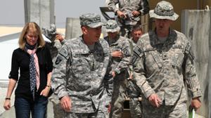 PHOTO Gen. David Petraeus is shown in the Logar Province of Afghanistan, Sept. 9, 2010.