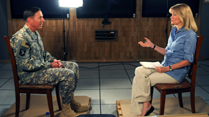PHOTO ABC News Martha Raddatz interviews General David Petraeus, in Kabul, Sept. 10, 2010.