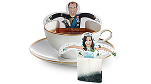 PHOTO: Shown here is a set of Prince William and Kate Middleton tea bags.