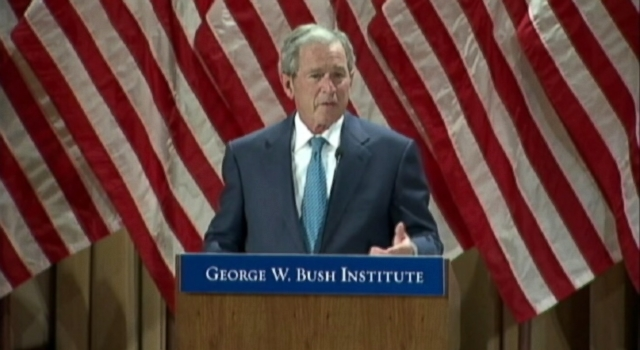 Former President Bush Gets Nostalgic about Presidency