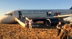 Terrifying Moments as Planes Nose Gear Fails
