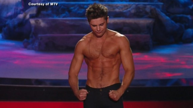 Zac Efron Wins Best Shirtless Performance MTV Movie Award