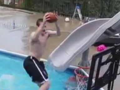 Watch: Pool Basketball Video Is a Viral Slam Dunk