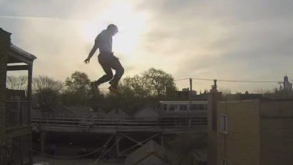 Stuntman Jumps off a Roof Video - ABC News