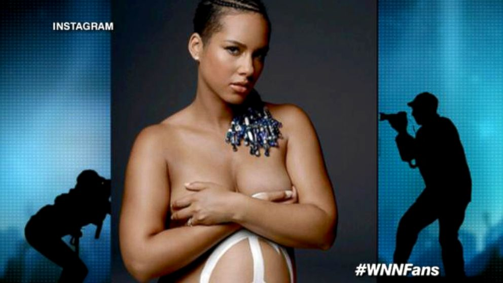 Why Alicia Keys Posed Nude While Pregnant Video - ABC News