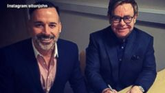 VIDEO: Elton John and partner David Furnish exchanged vows Sunday under new laws allowing same-sex marriages in England.