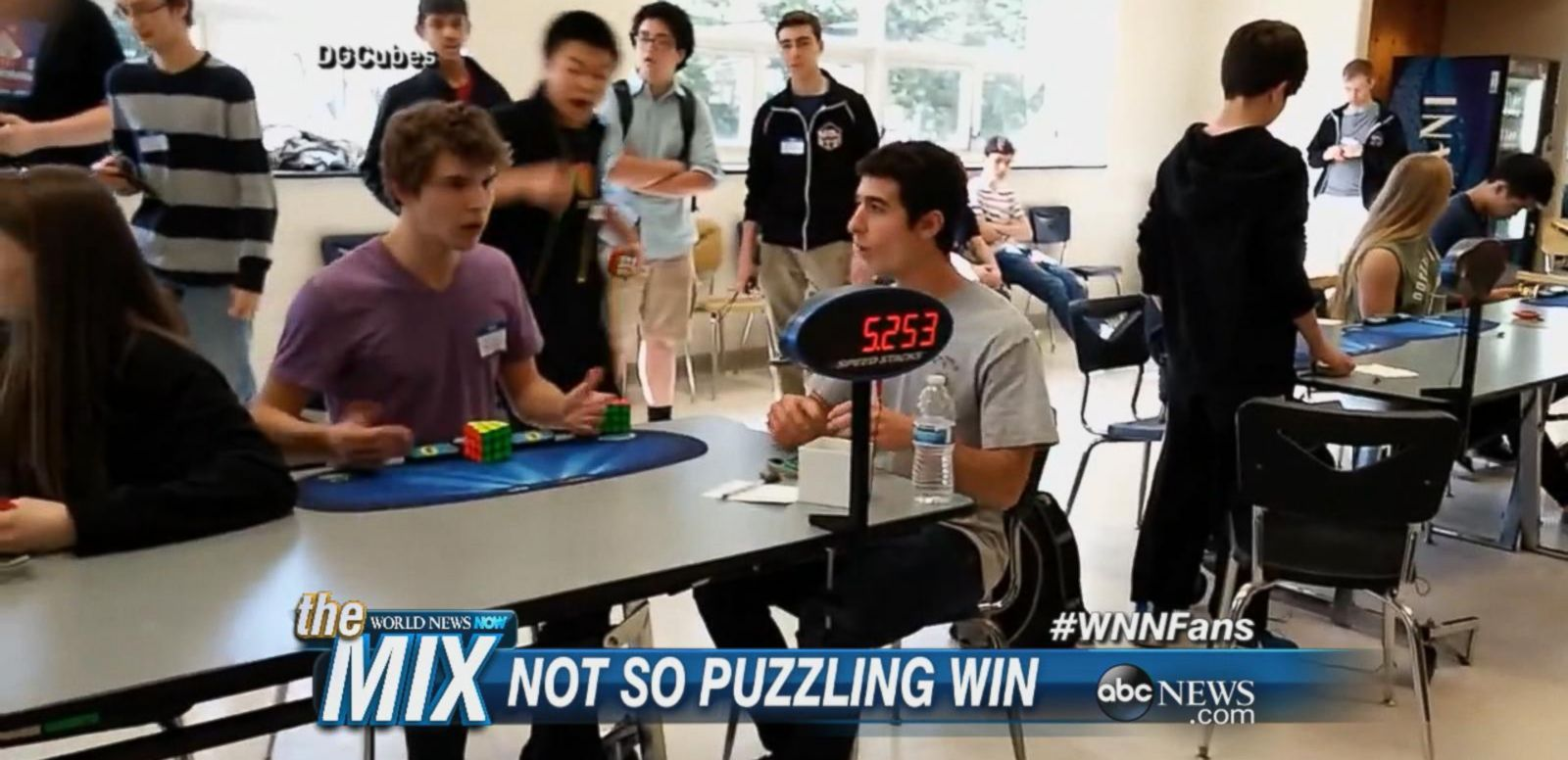 VIDEO: Collin Burns solved a traditional 3x3x3 Rubik's Cube in just 5.25 seconds over the weekend at an official World Cube Association competition.