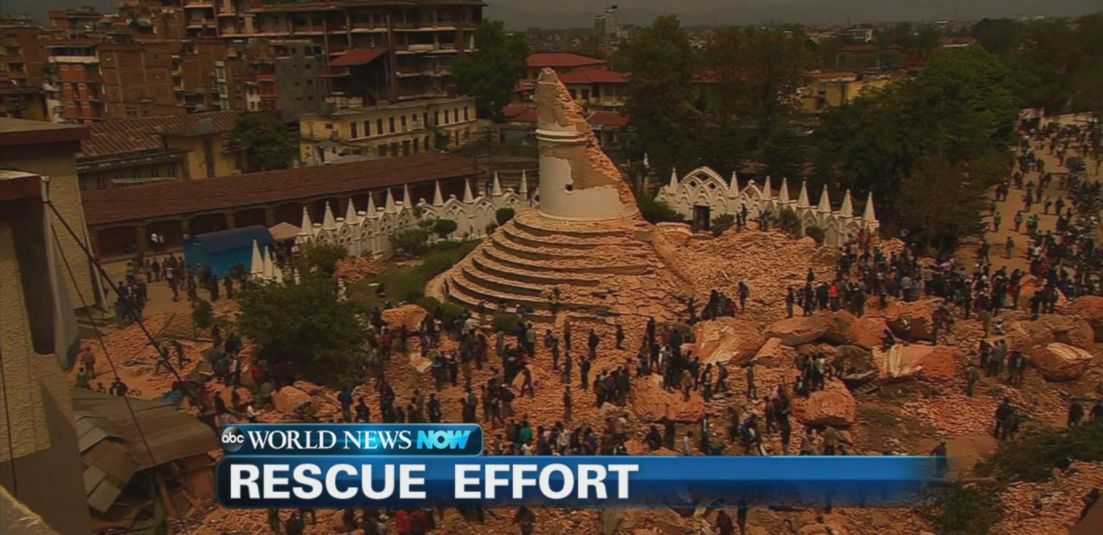 VIDEO: Rescue workers scramble to save lives in the rubble of the deadly earthquake that hit over the weekend in Nepal.