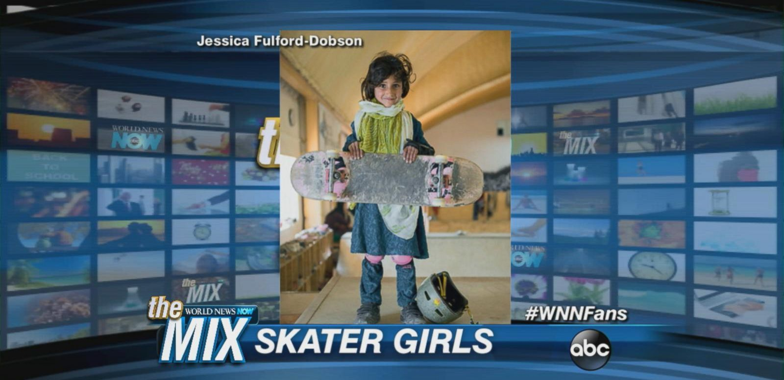 VIDEO: Photographer creates photo series featuring young Afghan girls learning to skateboard.