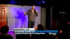 VIDEO: Veteran Derek Humphrey tells his story about creating comedy upon returning home from the military.