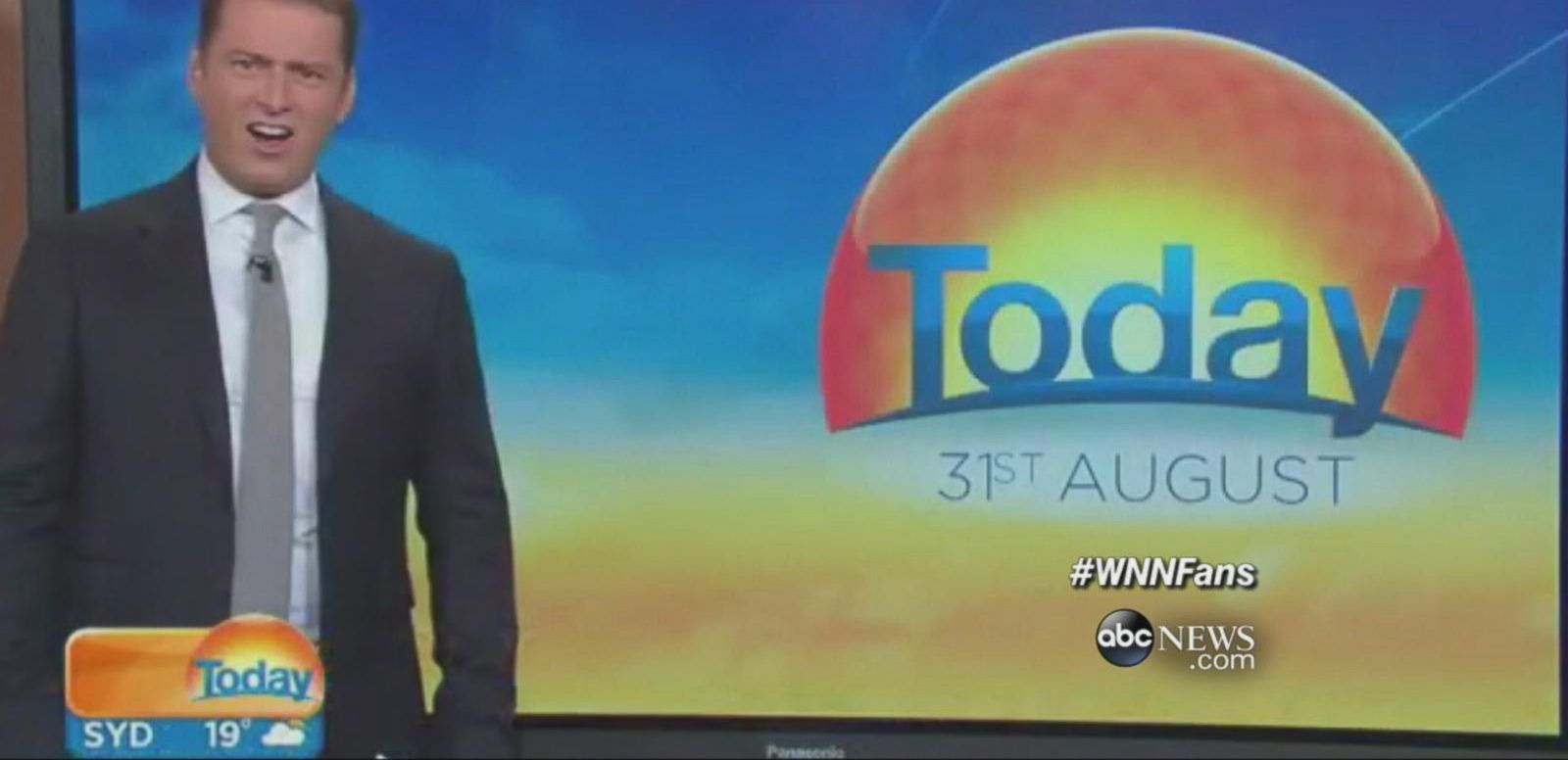 VIDEO: Australian TV hosts Karl Stefanovic and Lisa Wilkinson react to video of a massive shark.