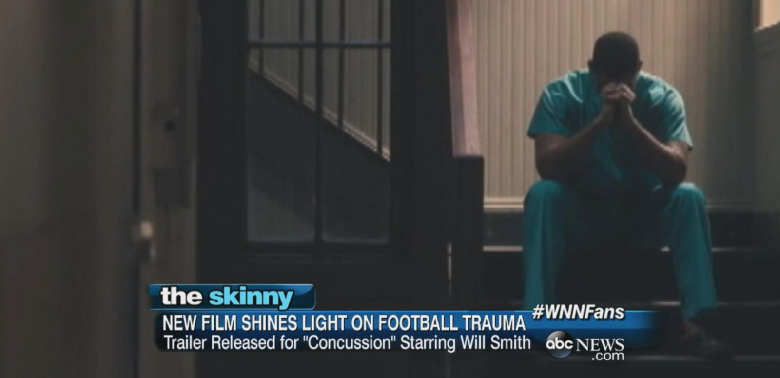 "VIDEO: ""Concussion"" starring Will Smith tells the story of Bennet Omalu, the real-life doctor who diagnosed the first case of Chronic Traumatic Encephalopathy (a degenerative disease of the brain) in a former NFL player."
