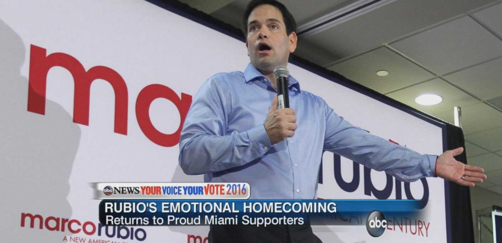 VIDEO: An Emotional Homecoming for Marco Rubio