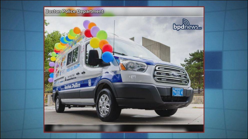 Boston Police Unveil New Addition to Ice Cream Truck Fleet