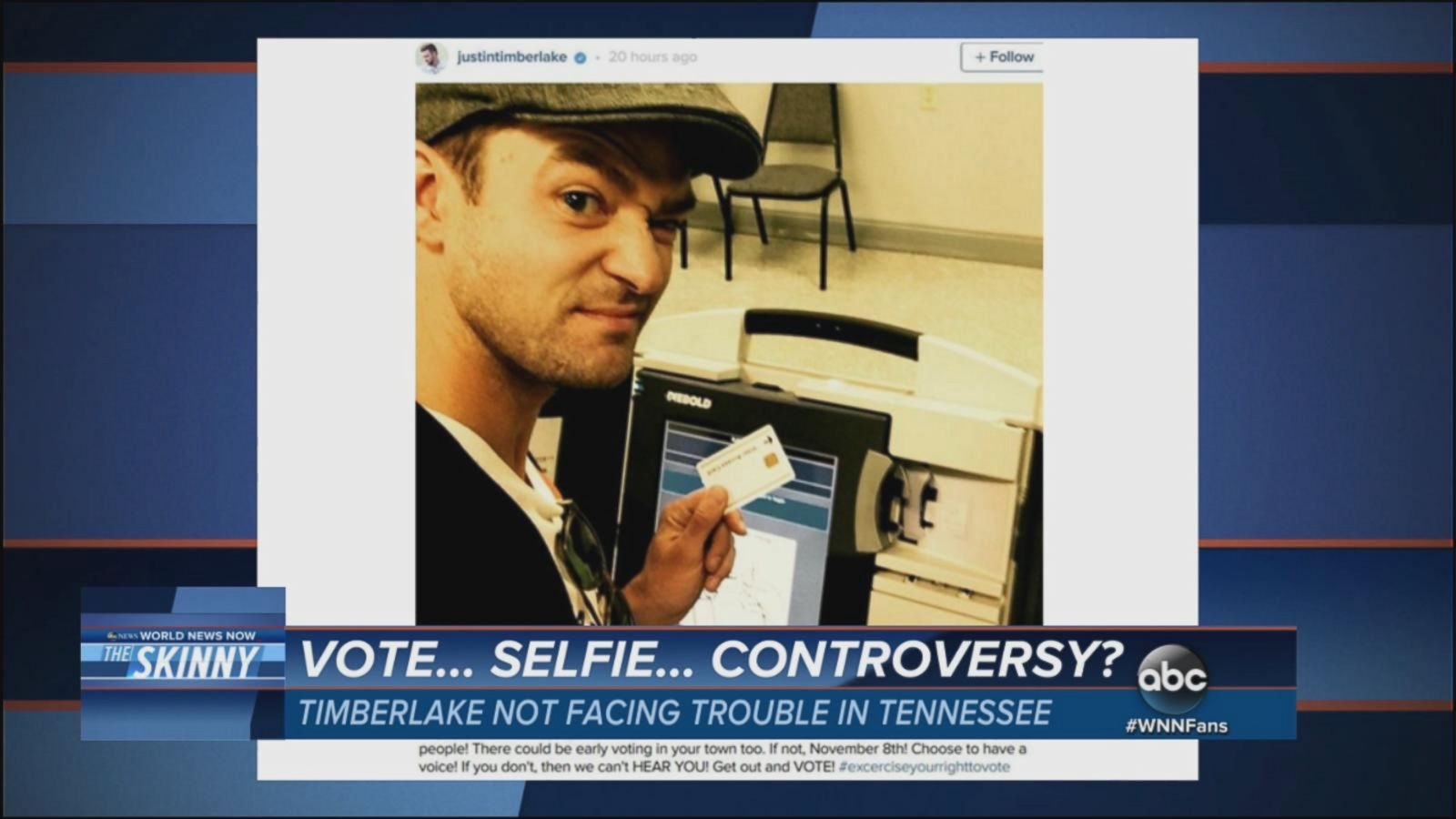 VIDEO: Justin Timberlake Will Not Face Criminal Charges for Voting Selfie