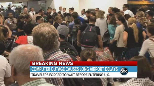 VIDEO: Customs Systems Outage Causes Travel Delays at Several Airports
