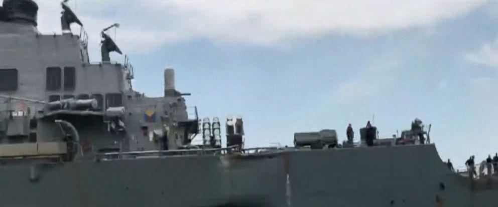 VIDEO: Navy Destroyer Collision