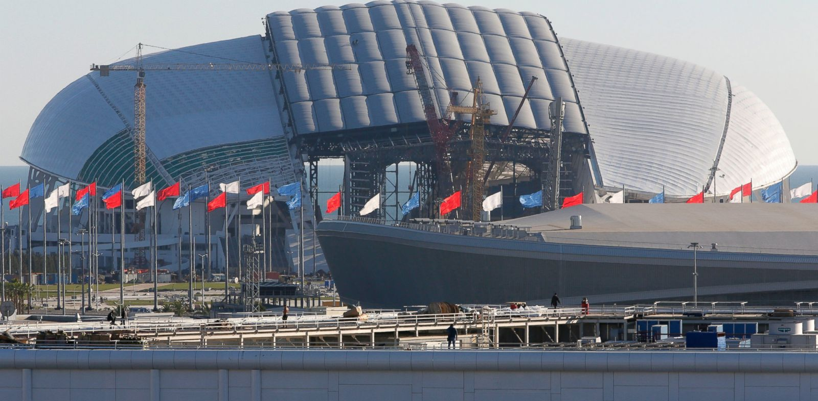 PHOTO: The Fisht Olympic Stadium in Sochi, Russia, Oct. 25, 2013. The stadium is one of the venues for the 2014 Winter Olympics.