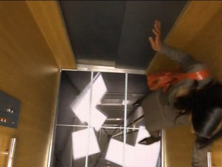 Watch: Elevator Prank: Floor Falls Away