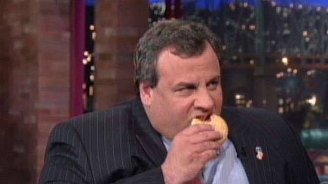Chris Christie and David Letterman Talk Fat Jokes