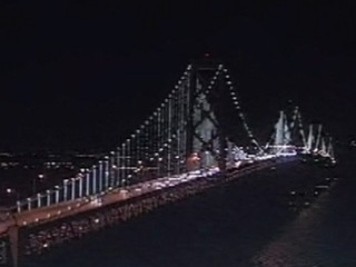 Watch: Lights Illuminate Bay Bridge in San Francisco