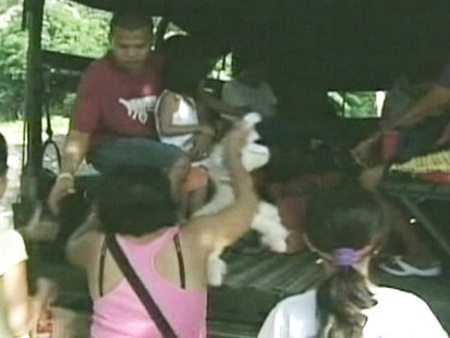 VIDEO: Residents in the Philippines evacuate because of volcano activity
