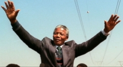 The voice of his people, Mandela struggled over South Africa's legacy of racial apartheid.