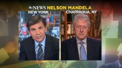 Clinton tells ABC News' George Stephanopolous Mandela set up cabinet with leaders of opposing parties.