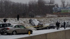 Ice storm hits the East Coast; drivers face hazardous travel conditions.