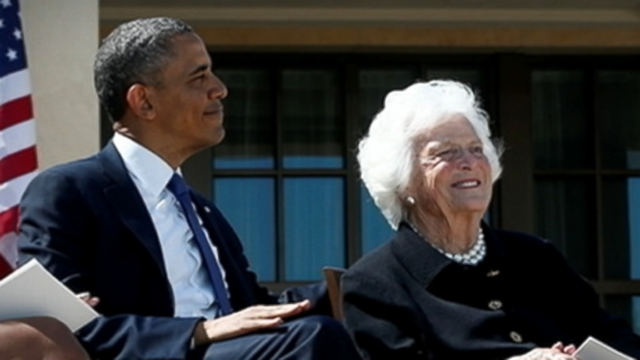 VIDEO: Bush family matriarch, 88, hospitalized for respiratory problems.