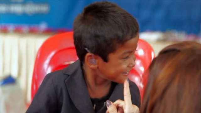 VIDEO: Last year couples foundation gave out 165,000 free hearing aids worldwide.