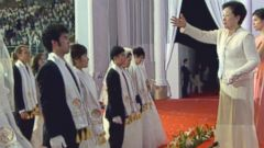 VIDEO: Part 2: 2,000 couples, some matched by Mrs. Moon days before, gather outside Seoul, Korea to be wed.