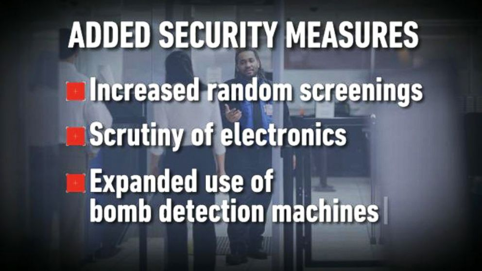 VIDEO: New Precautions at Airports Over Terror Fears and Hard-to-Detect Bombs