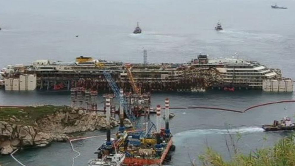 VIDEO: Raising the Costa Concordia Off the Coast of Italy Where 32 People Died
