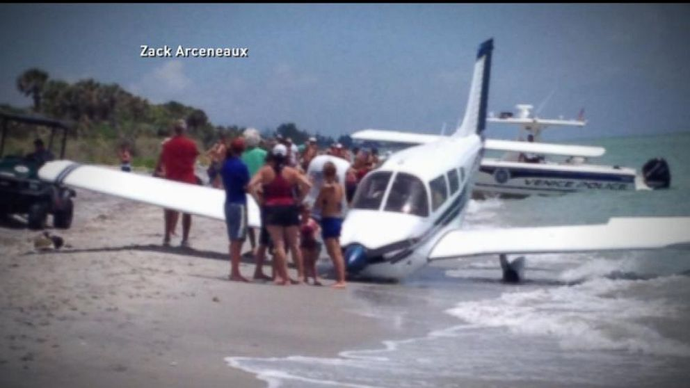 Man Killed In Emergency Plane Landing On Beach Video Abc