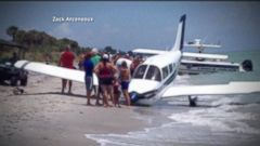 VIDEO: Man Killed in Emergency Plane Landing on Beach